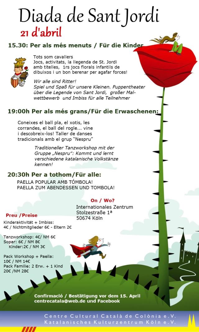 Programa Diada Sant Jordi 2012